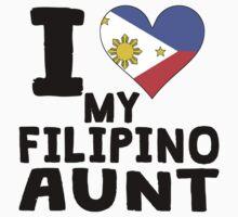 I Heart My Filipino Aunt One Piece - Short Sleeve