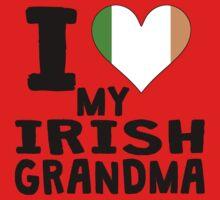 I Heart My Irish Grandma Kids Tee