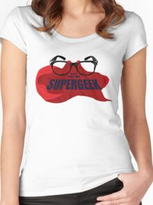 Super Geek Women's Fitted Scoop T-Shirt
