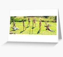 Fantasy Beach Volleyball Greeting Card