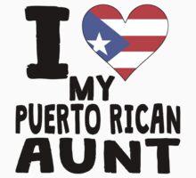 I Heart My Puerto Rican Aunt Kids Tee