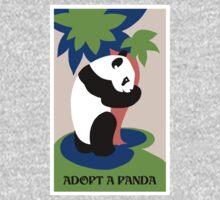 Fun retro adopt a panda One Piece - Long Sleeve