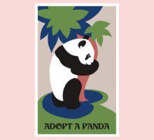 Fun retro adopt a panda Kids Tee