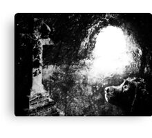 Always by your side Greyscale Canvas Print