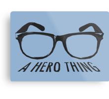 A super hero needs a disguise! Metal Print