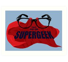 Super Geek Art Print