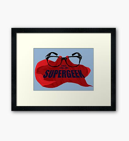 Super Geek Framed Print