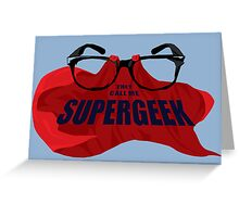 Super Geek Greeting Card