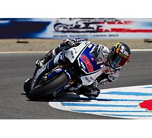 Jorge Lorenzo at laguna seca 2012 Photographic Print