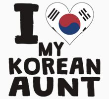 I Heart My Korean Aunt Kids Tee