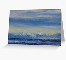 "detail ""Heavy Cloud"" oil painting  MAYNE ISLAND Greeting Card"