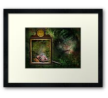 the forest dark and deep Framed Print