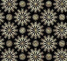 Black Gold And Diamonds -Abstract Stars Pattern by artonwear