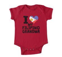 I Heart My Filipino Grandma One Piece - Short Sleeve