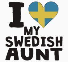 I Heart My Swedish Aunt Kids Tee