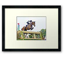 Paul Hart (South Africa) riding Heartbreak Hill Framed Print
