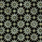Diamonds And Gold Pattern Look-Abstract Star Seamless Pattern by artonwear