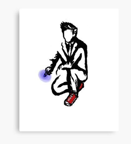 10th Doctor Ink Canvas Print