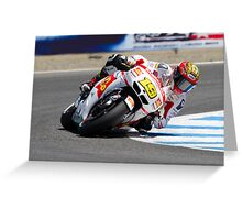 Alvaro Bautista at laguna seca 2012 Greeting Card