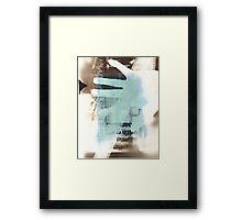 Film Strip, Newspaper & Hand Photogram Framed Print
