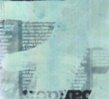 Film Strip, Newspaper & Hand Photogram Sticker