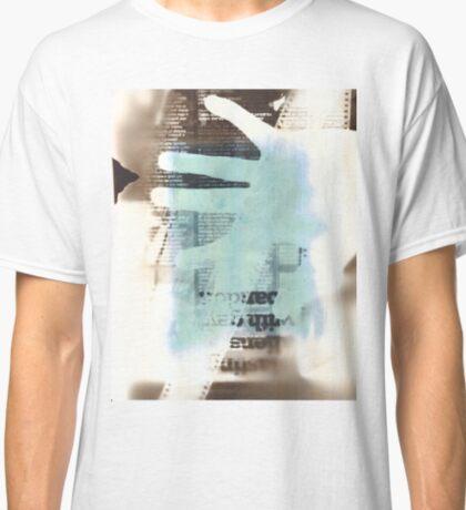 Film Strip, Newspaper & Hand Photogram Classic T-Shirt