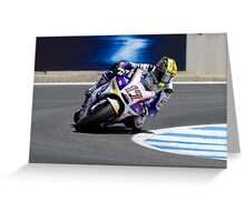 Karel Abraham at laguna seca 2012 Greeting Card