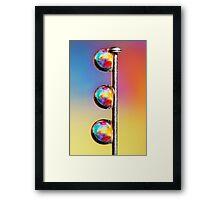 Tropical Pin Drop Framed Print