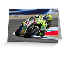 Tony Elias at laguna seca 2012 Greeting Card