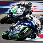 Ivan Silva and Yonny Hernandez at laguna seca 2012 by corsefoto