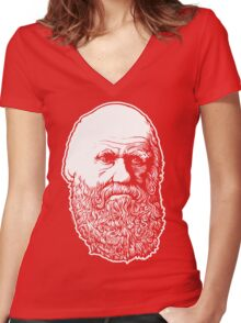 Darwin Women's Fitted V-Neck T-Shirt