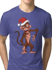 cartoon monkey. Tri-blend T-Shirt