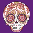 Colorful Sugar Skull Day of the Dead Shirt by Thaneeya McArdle