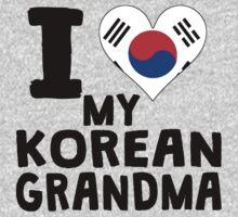 I Heart My Korean Grandma Kids Tee