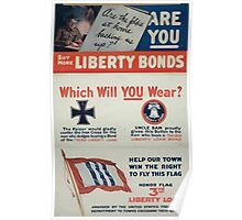 Are the folks at home backing us upAre you Buy more Liberty bonds Poster
