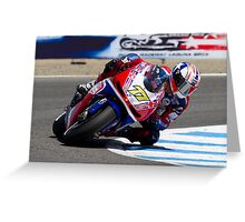 James Ellison at laguna seca 2012 Greeting Card