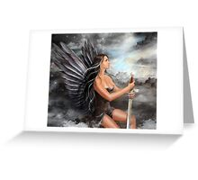 """Black Angel"" Greeting Card"