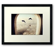 Monday Dream - Flying with My Dolphin Friends Framed Print