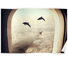 Monday Dream - Flying with My Dolphin Friends Poster
