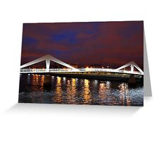 Squiggly Bridge Glasgow Clyde Greeting Card