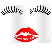 Eye Lashes and Kiss Poster
