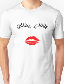 Eye Lashes and Kiss Unisex T-Shirt
