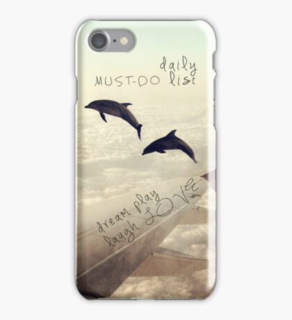 Monday Dream - Flying with My Dolphin Friends iPhone Case/Skin
