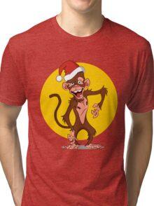 cartoon monkey Tri-blend T-Shirt