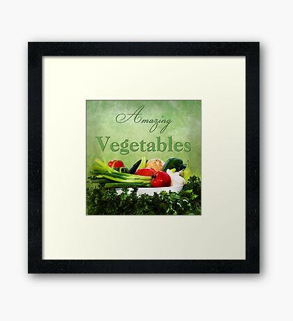 Amazing Vegetables  Framed Print