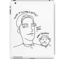 Colour in Cumberbatch! Bonus Freeman. iPad Case/Skin