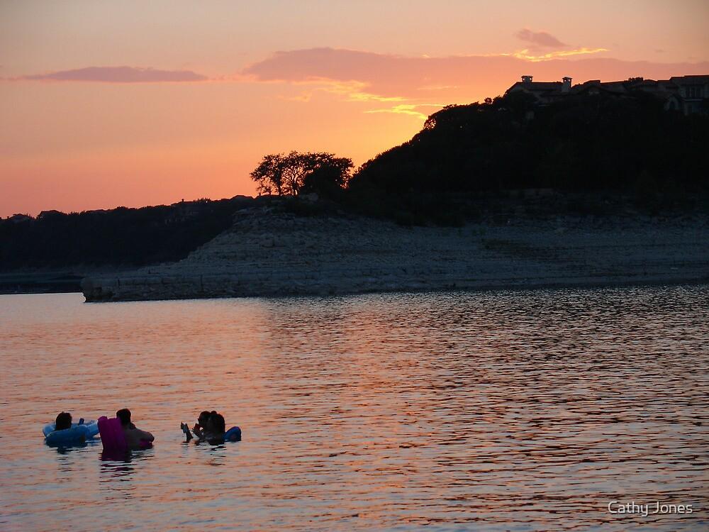 Lake Travis Sunset by Cathy Jones