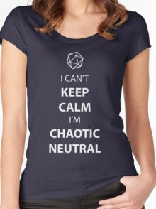 I can't keep calm, I' chaotic neutral Women's Fitted Scoop T-Shirt