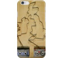 Tape and shadows - British iPhone Case/Skin