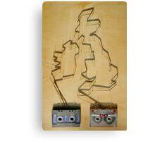 Tape and shadows - British Canvas Print